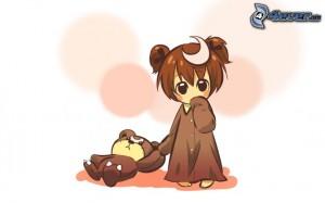 fille-en-pyjama,-ours-en-peluche-185883